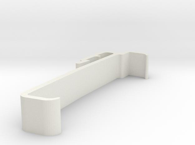 Blind Valance Clip 00170 in White Natural Versatile Plastic