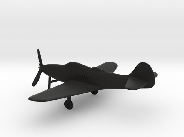 Bell P-39 Airacobra in Black Natural Versatile Plastic: 1:144