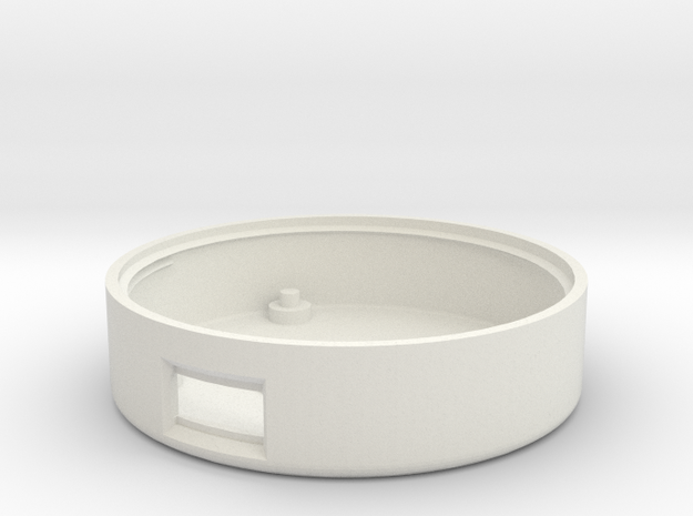 Circuit Playground Seashell Necklace Enclosure in White Natural Versatile Plastic