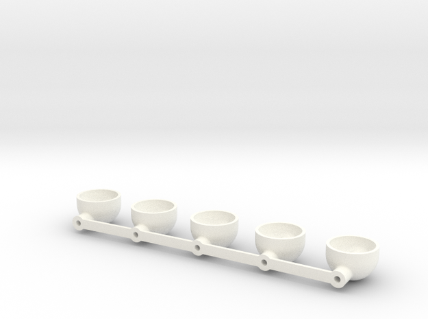 Bigfoot 1 Round KC light-bar 6 Inch in White Processed Versatile Plastic