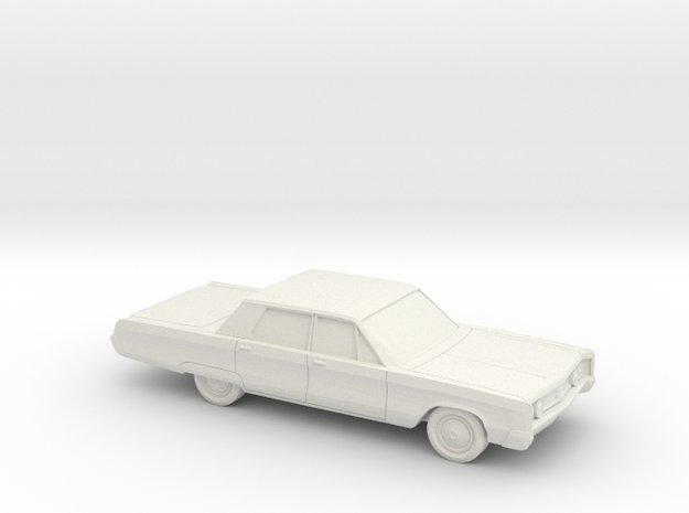 1/87 1967 Chrysler Newport Sedan in White Natural Versatile Plastic