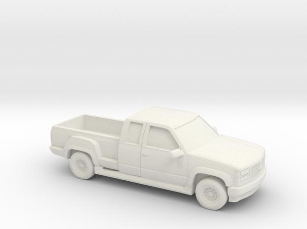 1/87 1995 Chevrolet Silverado Stepside in White Natural Versatile Plastic