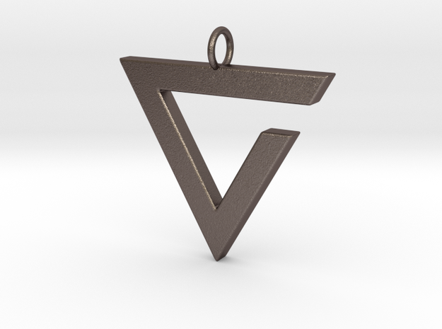 Axii Pendant in Polished Bronzed Silver Steel