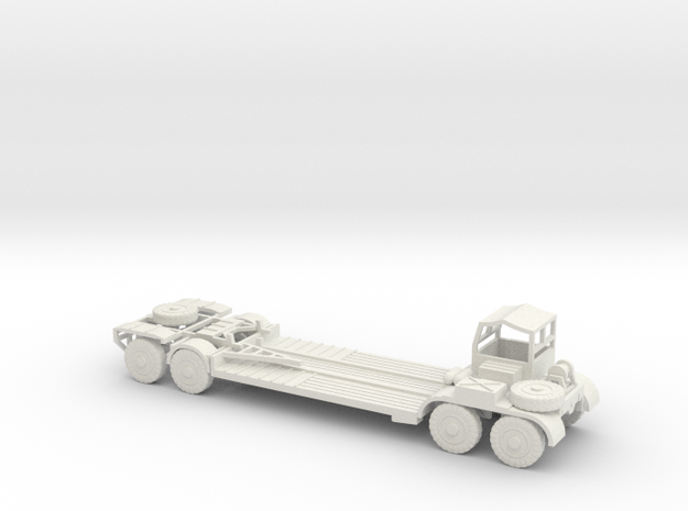 1/120 trailer for German tank recovery in White Natural Versatile Plastic