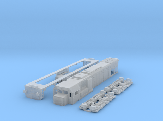 N scale GT22hcw or JZ-645 / HZ2044 locomotive in Smooth Fine Detail Plastic
