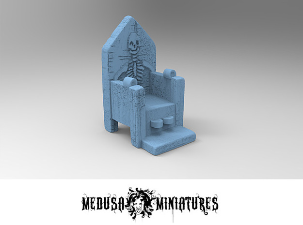 SKELETON CHAIR 28mm rpg prop in Smooth Fine Detail Plastic