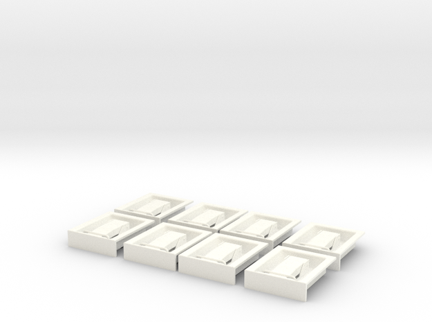 1.8 Poignees De Trappes EC in White Strong & Flexible Polished