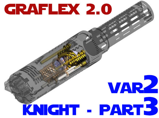 Graflex2.0 - Knight Chassis Variant 2 - Part3 in White Strong & Flexible