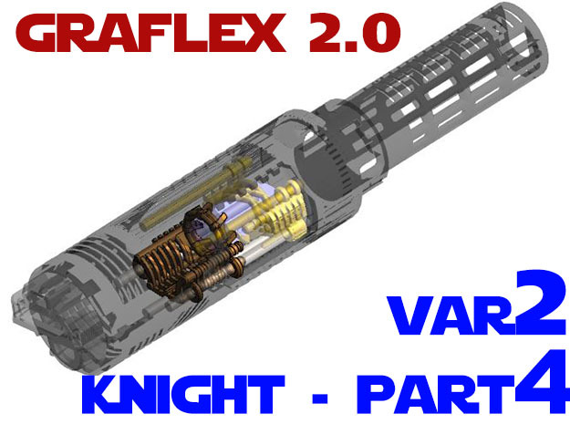 Graflex2.0 - Knight Chassis Variant 2 - Part4 in White Natural Versatile Plastic