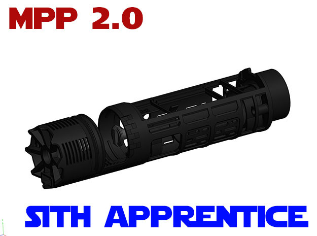 Vader MPP2.0 - Sith Apprentice Chassis All.In.One in White Strong & Flexible