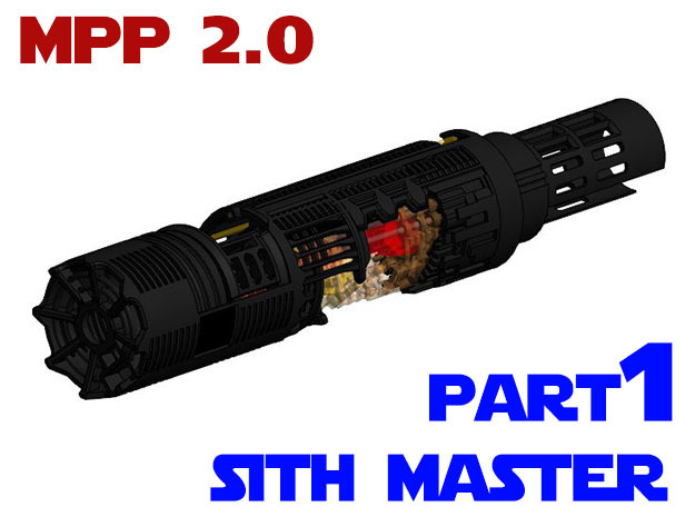 MPP2.0 Sith Master Chassis - Part1 Main Chassis in White Strong & Flexible
