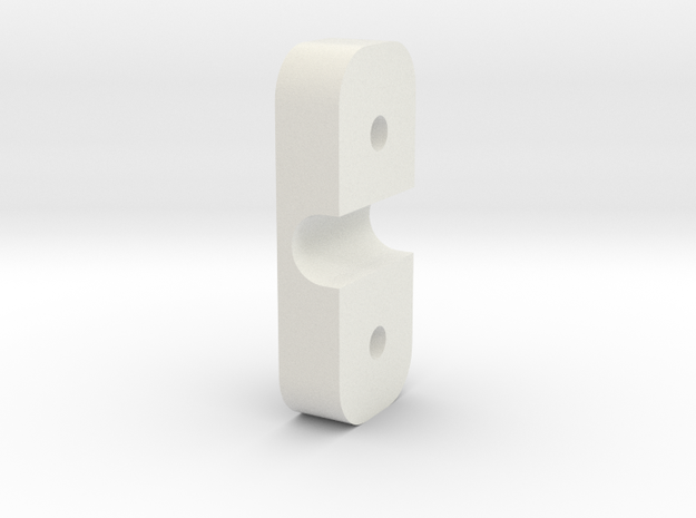 Cable Holder in White Natural Versatile Plastic