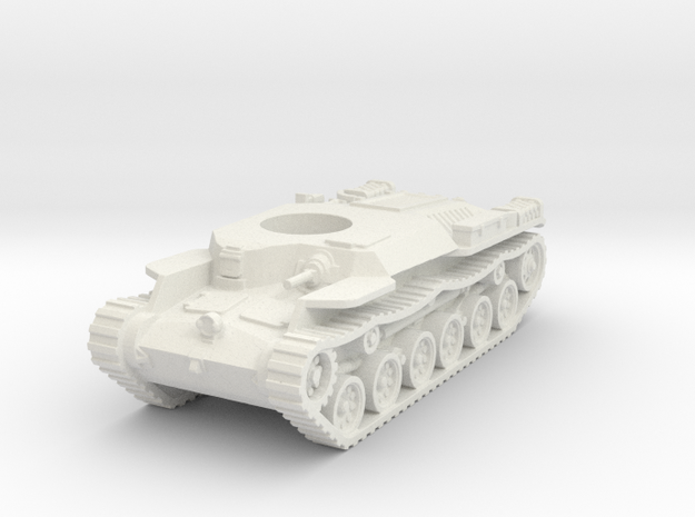 Japanese WWII Chi-ha tank Hull 1:100 15mm  in White Strong & Flexible