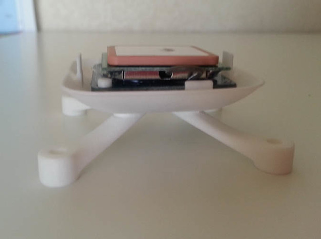 GPS Holder BASE (U Blox M6) v1.5 in White Processed Versatile Plastic
