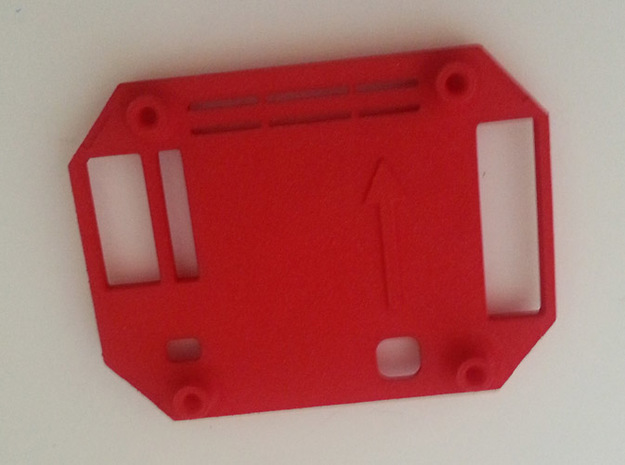 Multi Wii 2.0 Pro Case v1.5 Top (RTFQ) in Red Strong & Flexible Polished