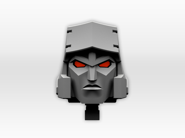 (1.5mm Screw) TR Faceplate & Helm for CW Megatron in Frosted Ultra Detail
