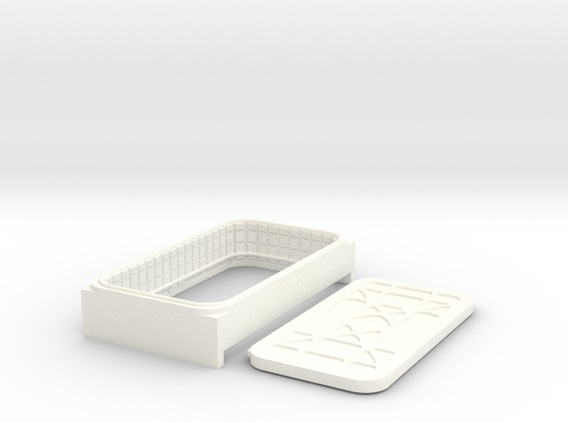 Docking Bay: Single Door, 1:43 in White Processed Versatile Plastic