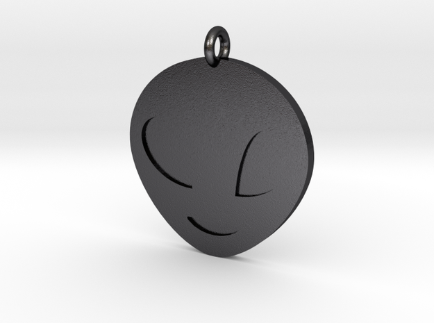 Alien Pendant in Polished and Bronzed Black Steel