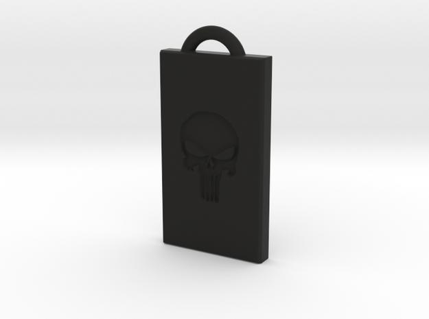 Punisher Pendant in Black Strong & Flexible