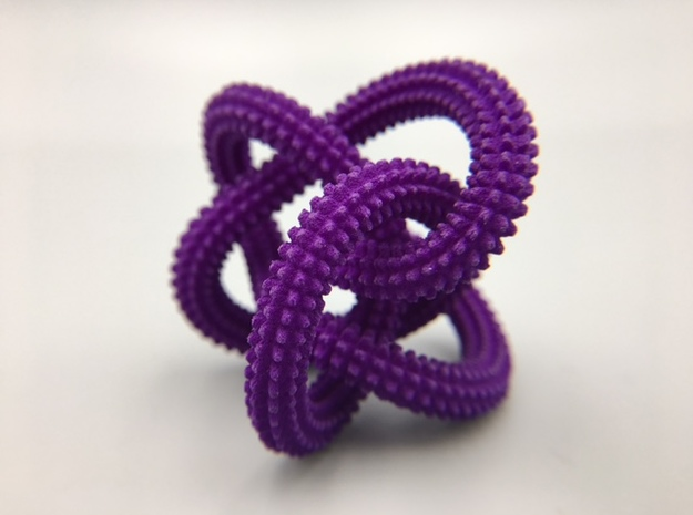 Perko Spikes Knot in Purple Strong & Flexible Polished