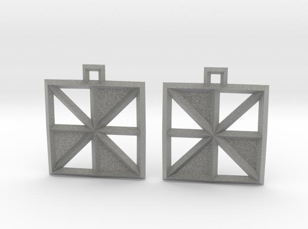 Square Alcove Earrings in Metallic Plastic