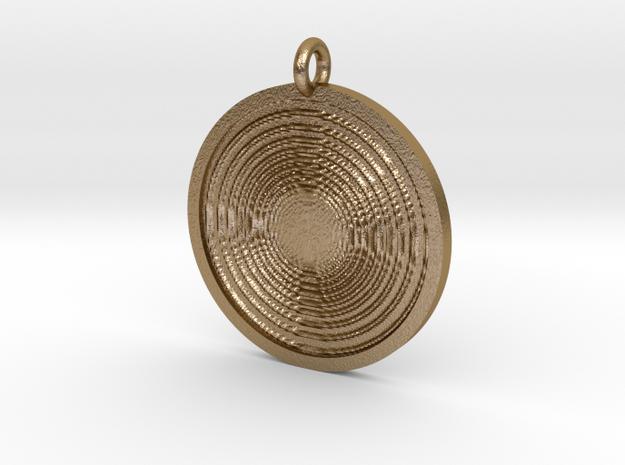 Vortex Pendant in Polished Gold Steel