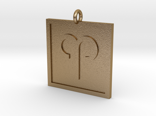 Aries Pendant in Polished Gold Steel