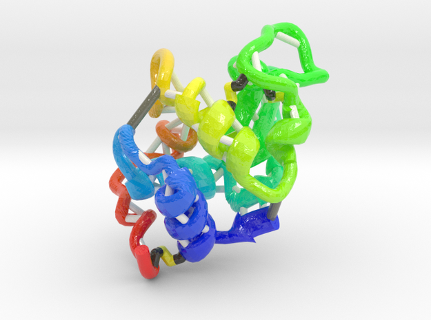 Hen Egg-White Lysozyme in Glossy Full Color Sandstone