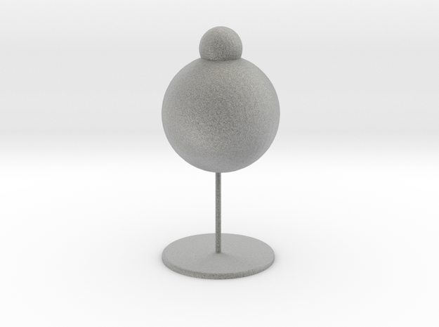 Snowman table lamp in Metallic Plastic: Large