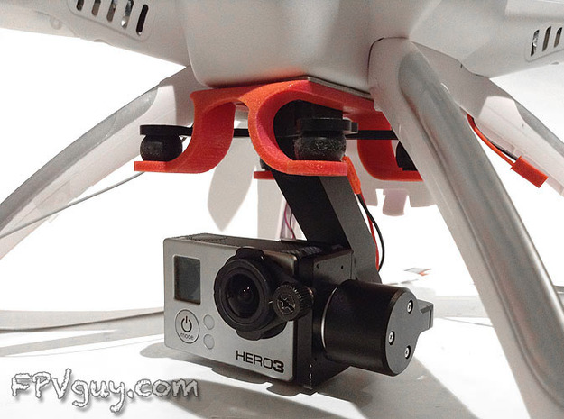 STELLA gimbal mount for Phantom quad 3d printed Attached to the Walkera QR x350