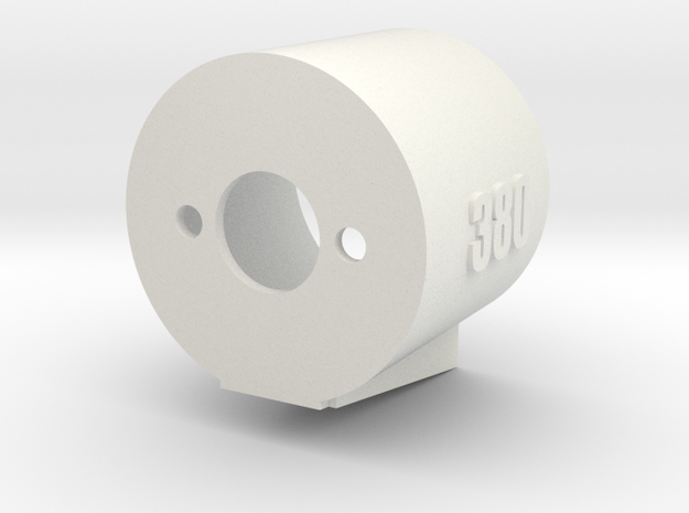 380 Motor Mount - 15% Angle Base in White Strong & Flexible