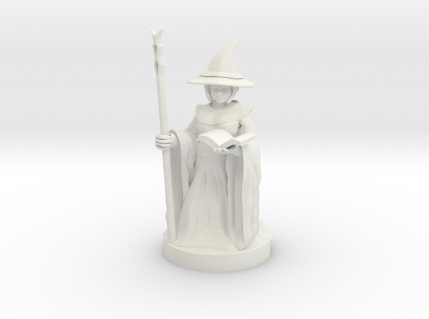 Gnome Female Wizard in White Strong & Flexible