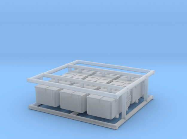 6 x 1/72 IJN Type 96 25mm ammo box in Smooth Fine Detail Plastic