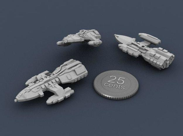 Long Range Courier 3d printed Renders of the model with a virtual quarter for scale.