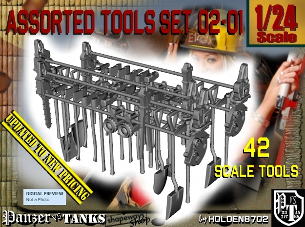 1/24 Assorted Tools UPDATED Set 02-01