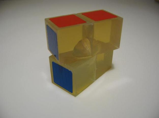 Minimis 2x2x1 (solid) 3d printed Original test model in PVC plastic.  (Note: Shapeways does not offer this material.)