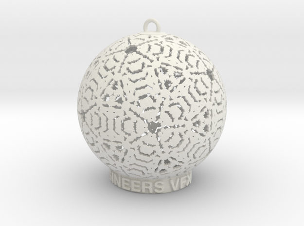 Creator Ornament in White Strong & Flexible