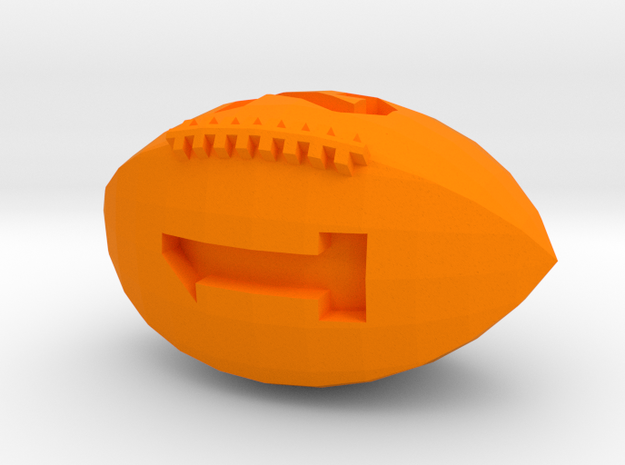Football D4 in Orange Strong & Flexible Polished