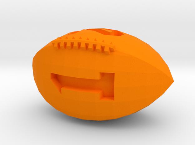 Football D4 in Orange Processed Versatile Plastic