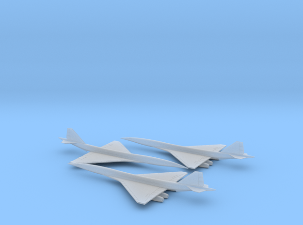 1/600 BOEING 2707 SUPERSONIC TRANSPORT SST(3 PACK) in Smooth Fine Detail Plastic