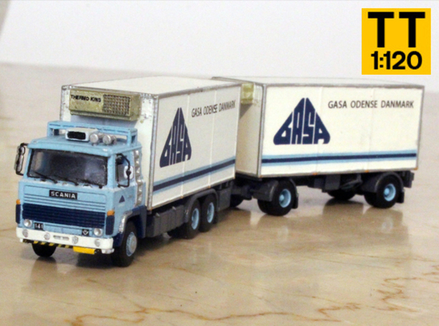 Scania 141 refrigerated lorry 1:120 scale in Frosted Extreme Detail