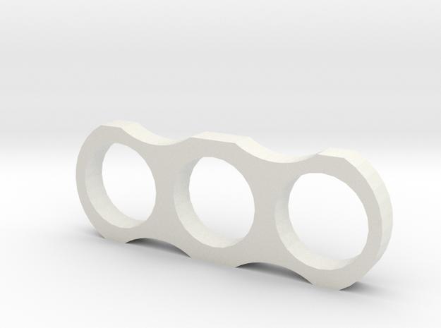 Fidgit Spinner in White Natural Versatile Plastic