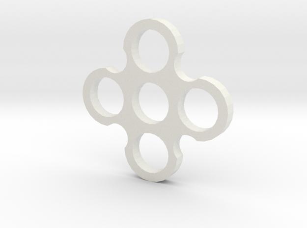 Quad Spiner in White Natural Versatile Plastic