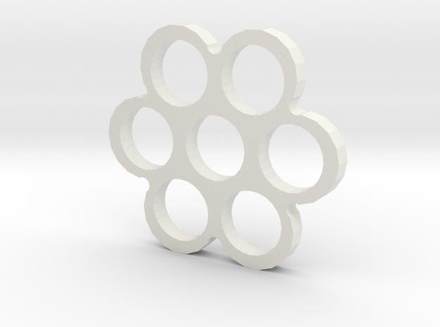 Snowflake Spinner in White Natural Versatile Plastic