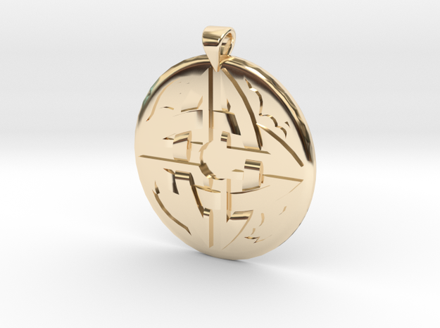 Celtic Knot 3 Pendant in 14k Gold Plated Brass