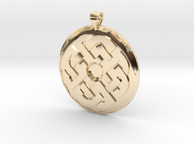 Celtic Knot 1 Pendant in 14k Gold Plated