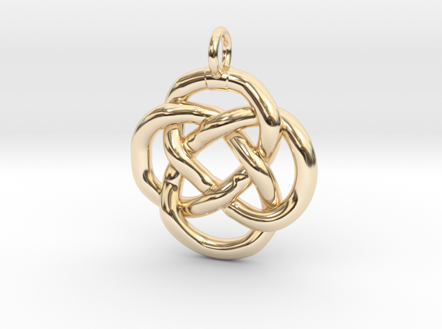 Knot pendant in 14k Gold Plated Brass