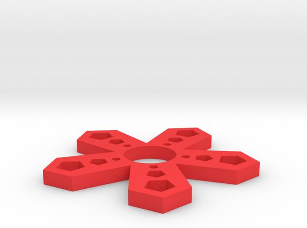 Pentaspin22 in Red Processed Versatile Plastic
