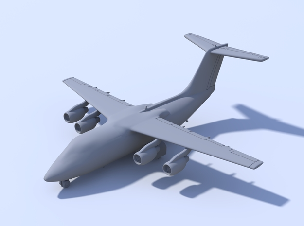 1:400 - BAE146-100 in Smooth Fine Detail Plastic