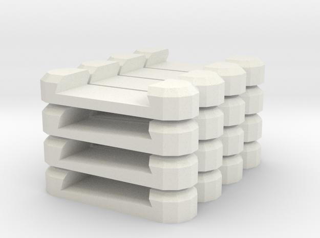 Gary Combo in White Natural Versatile Plastic